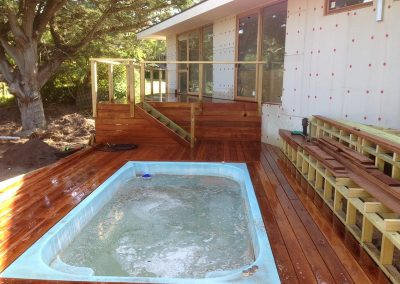 New Spa and decking