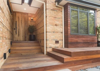 Front Entry with Feature Decking